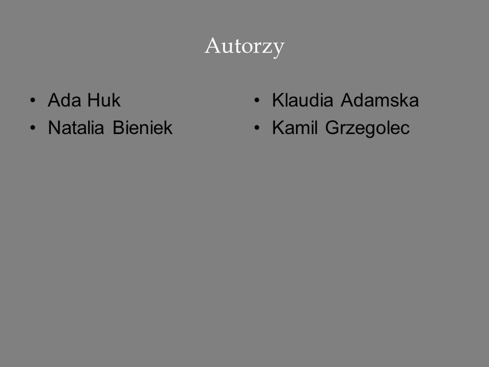 Autorzy Ada Huk Natalia Bieniek Klaudia Adamska Kamil Grzegolec