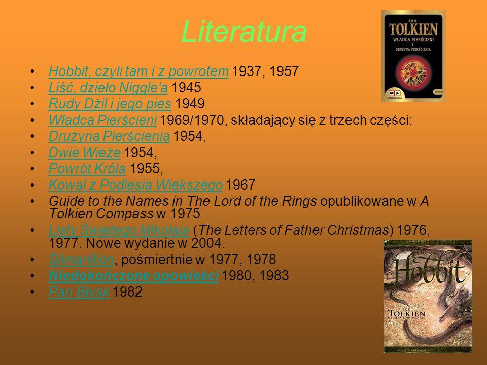 Literatura Hobbit, czyli tam i z powrotem 1937, 1957