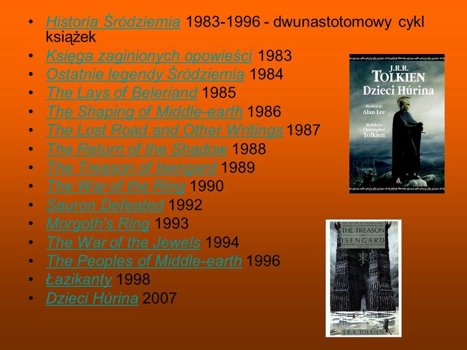 Historia Śródziemia 1983-1996 - dwunastotomowy cykl książek