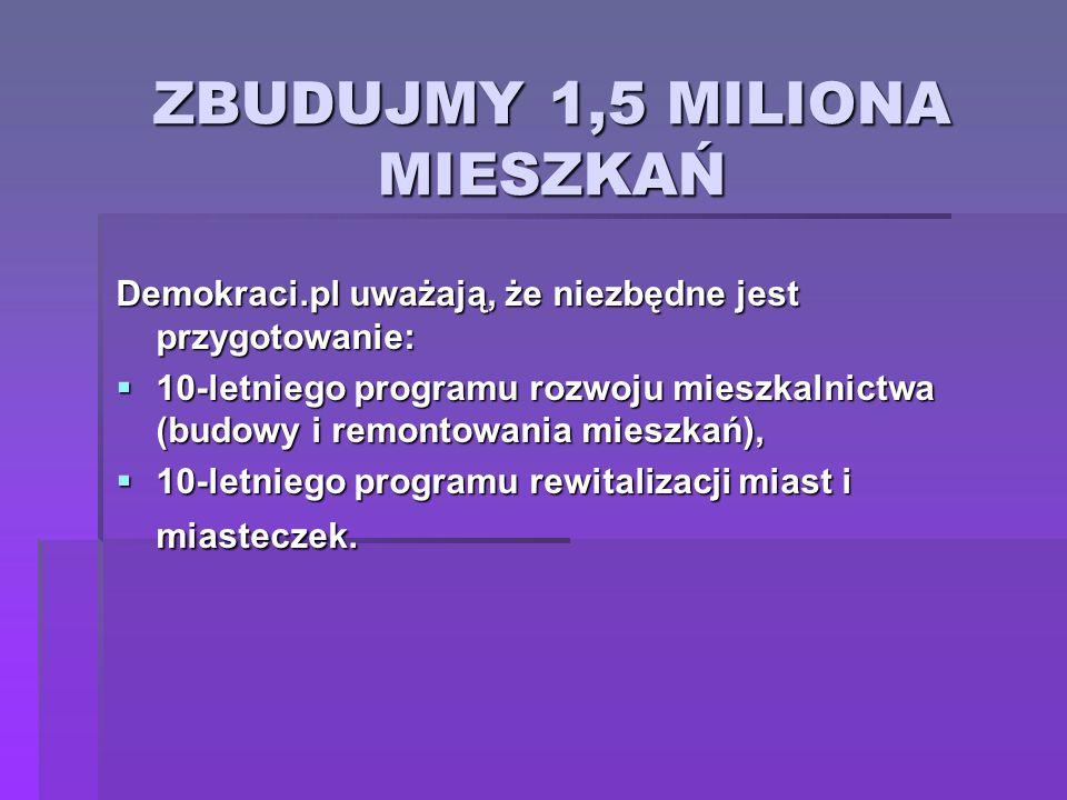 ZBUDUJMY 1,5 MILIONA MIESZKAŃ