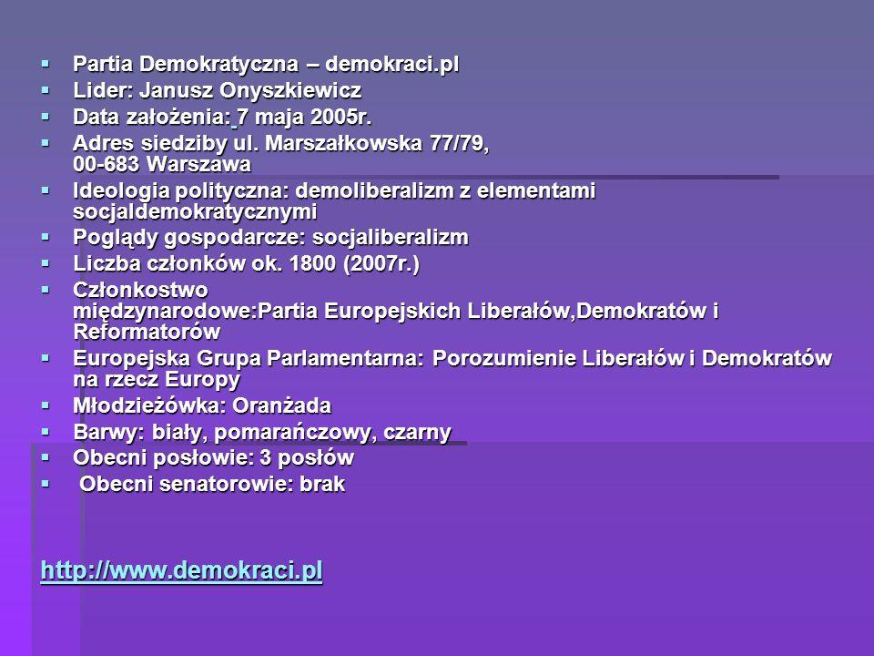 http://www.demokraci.pl Partia Demokratyczna – demokraci.pl
