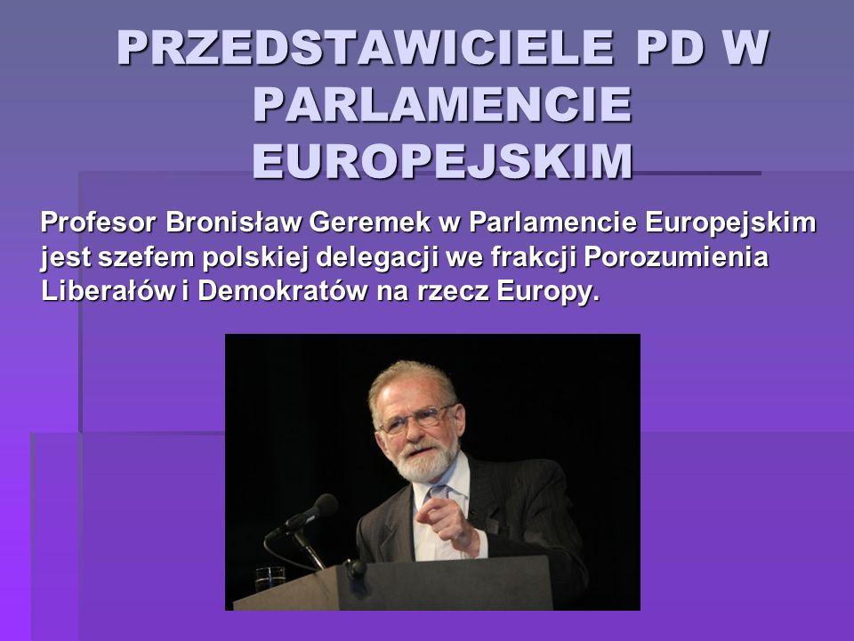 PRZEDSTAWICIELE PD W PARLAMENCIE EUROPEJSKIM