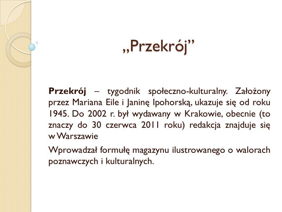 """""""Przekrój"""