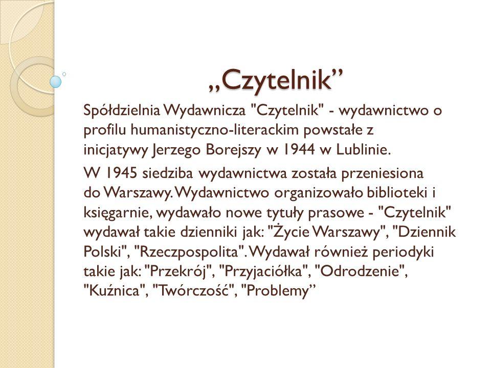 """""""Czytelnik"""