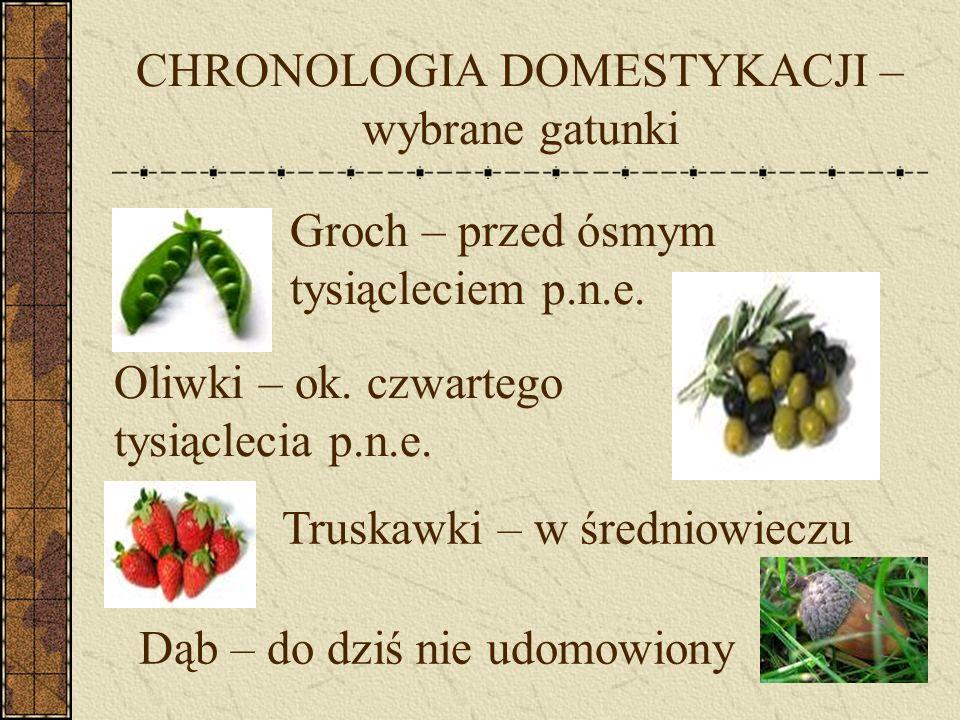 CHRONOLOGIA DOMESTYKACJI – wybrane gatunki
