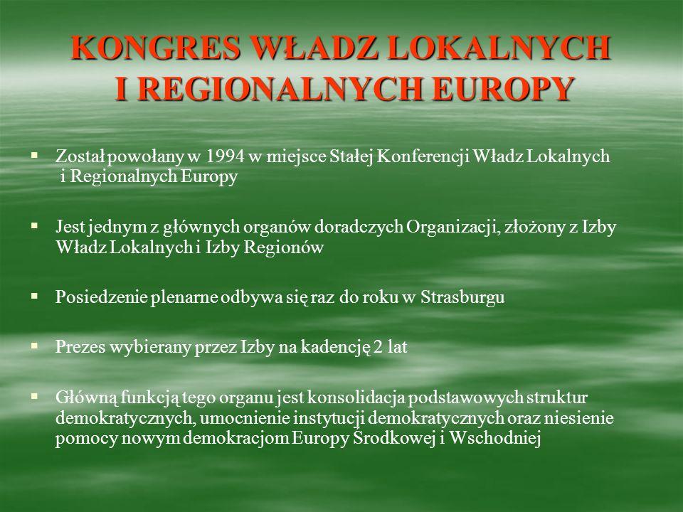 KONGRES WŁADZ LOKALNYCH I REGIONALNYCH EUROPY
