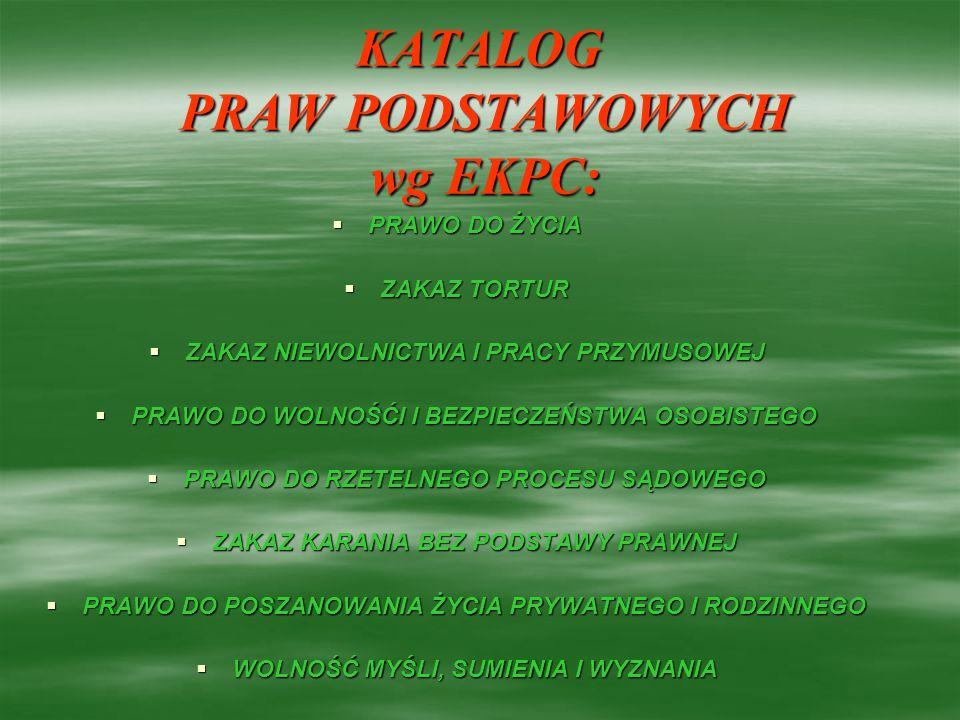 KATALOG PRAW PODSTAWOWYCH wg EKPC: