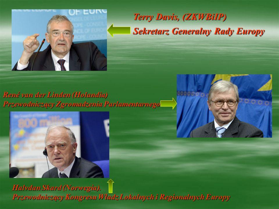 Terry Davis, (ZKWBiIP) Sekretarz Generalny Rady Europy