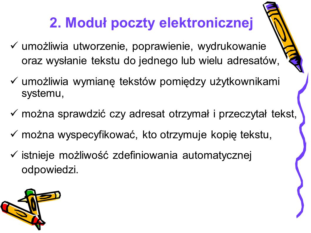 2. Moduł poczty elektronicznej