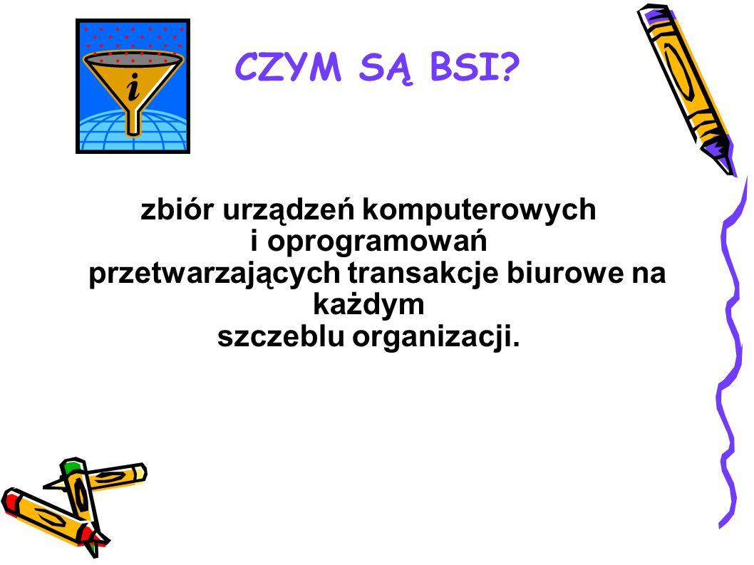 CZYM SĄ BSI zbiór urządzeń komputerowych i oprogramowań