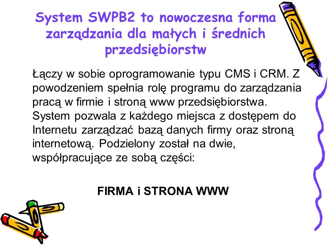 System SWPB2 to nowoczesna forma zarządzania dla małych i średnich przedsiębiorstw