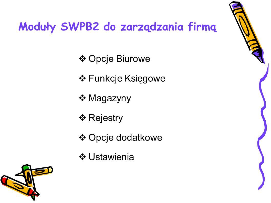 Moduły SWPB2 do zarządzania firmą