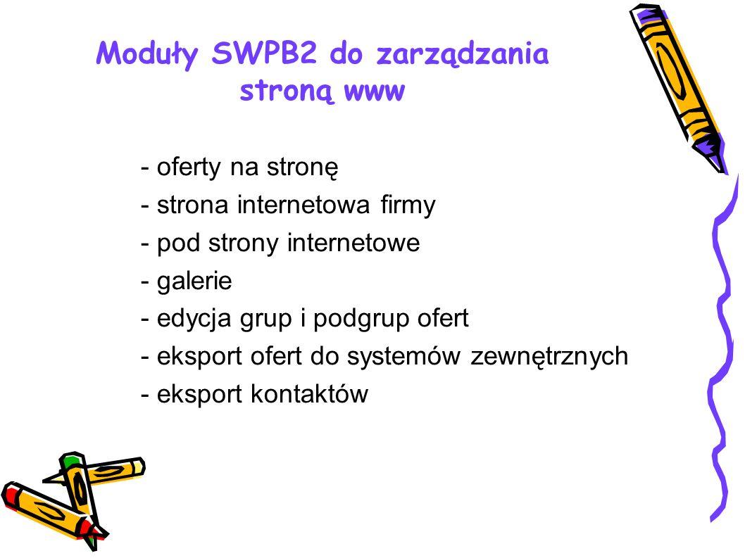 Moduły SWPB2 do zarządzania stroną www