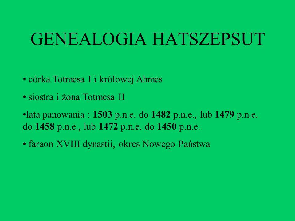 GENEALOGIA HATSZEPSUT