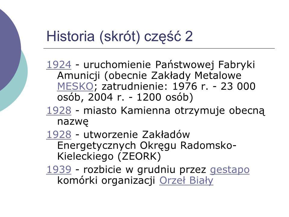 Historia (skrót) część 2