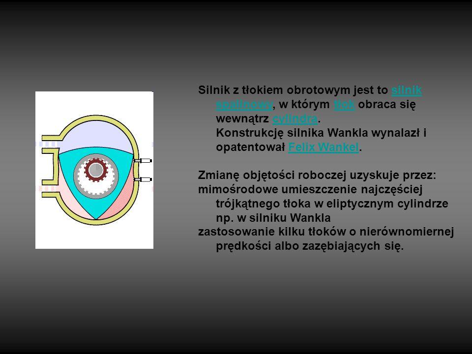 Silnik z tłokiem obrotowym jest to silnik spalinowy, w którym tłok obraca się wewnątrz cylindra. Konstrukcję silnika Wankla wynalazł i opatentował Felix Wankel.