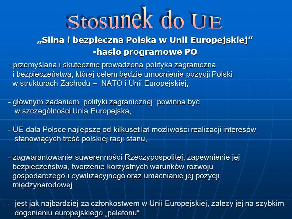"""""""Silna i bezpieczna Polska w Unii Europejskiej"""
