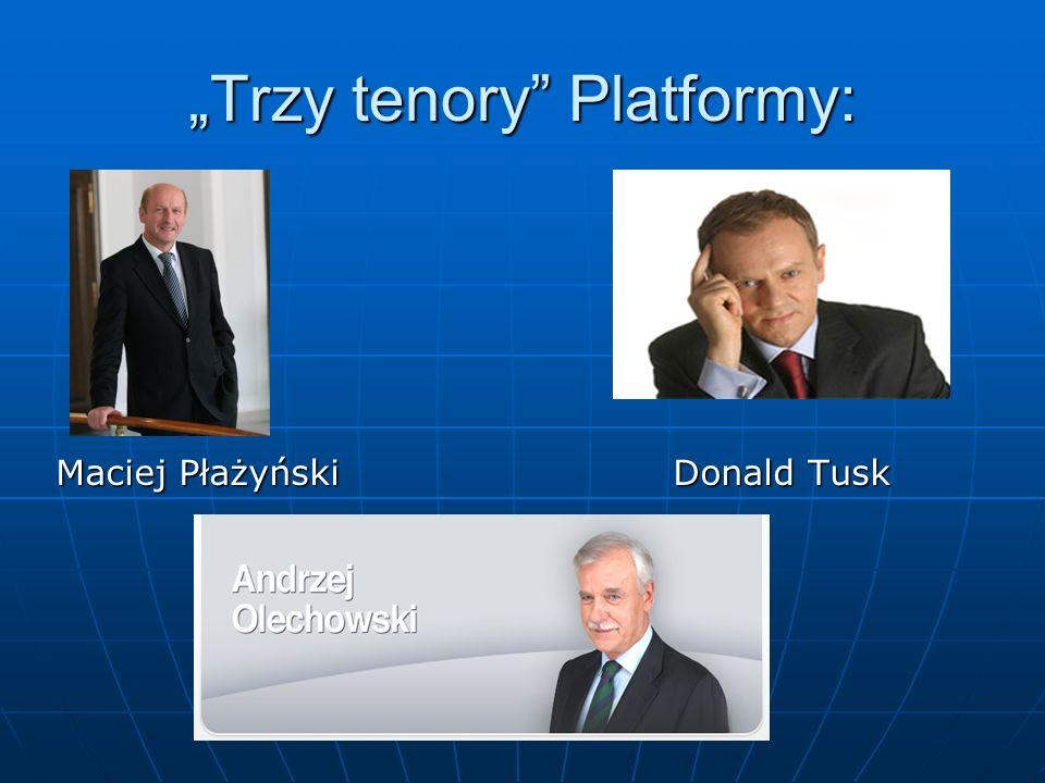 """""""Trzy tenory Platformy:"""