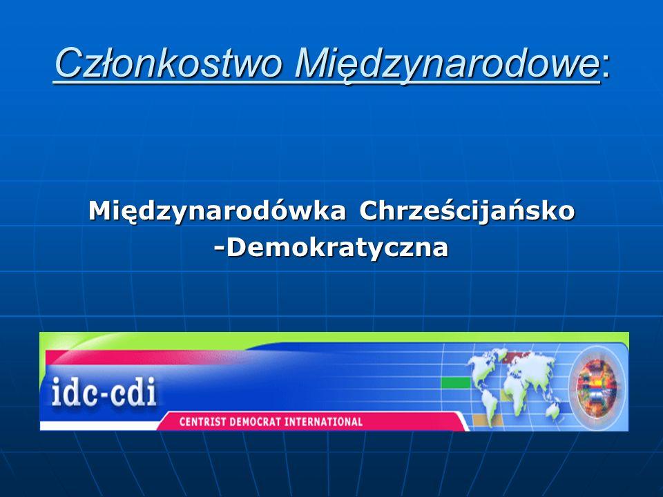 Członkostwo Międzynarodowe:
