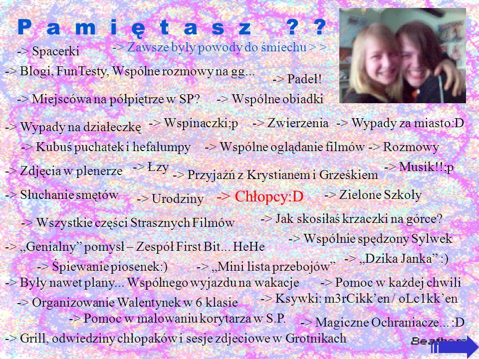 P a m i ę t a s z -> Chłopcy:D