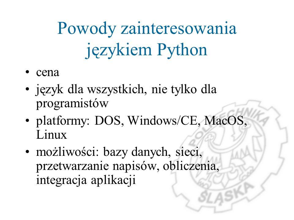 Powody zainteresowania językiem Python