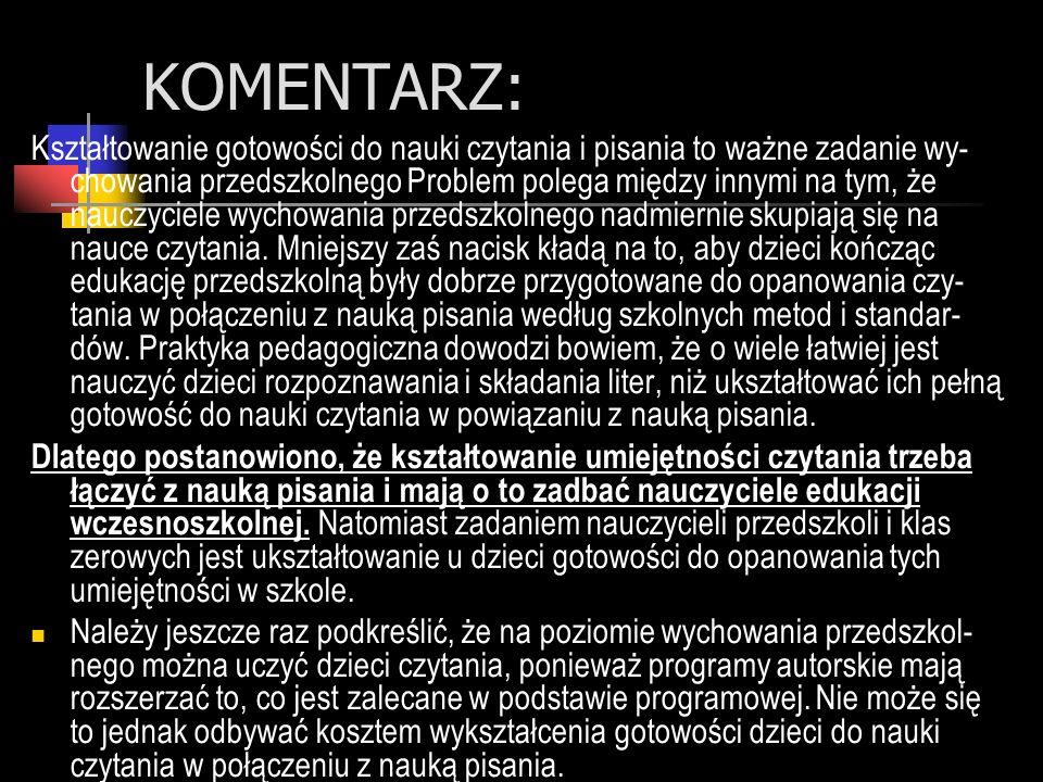 KOMENTARZ: