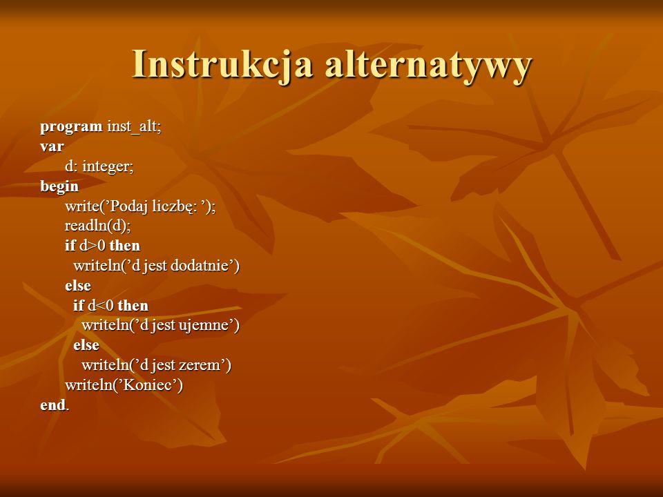 Instrukcja alternatywy