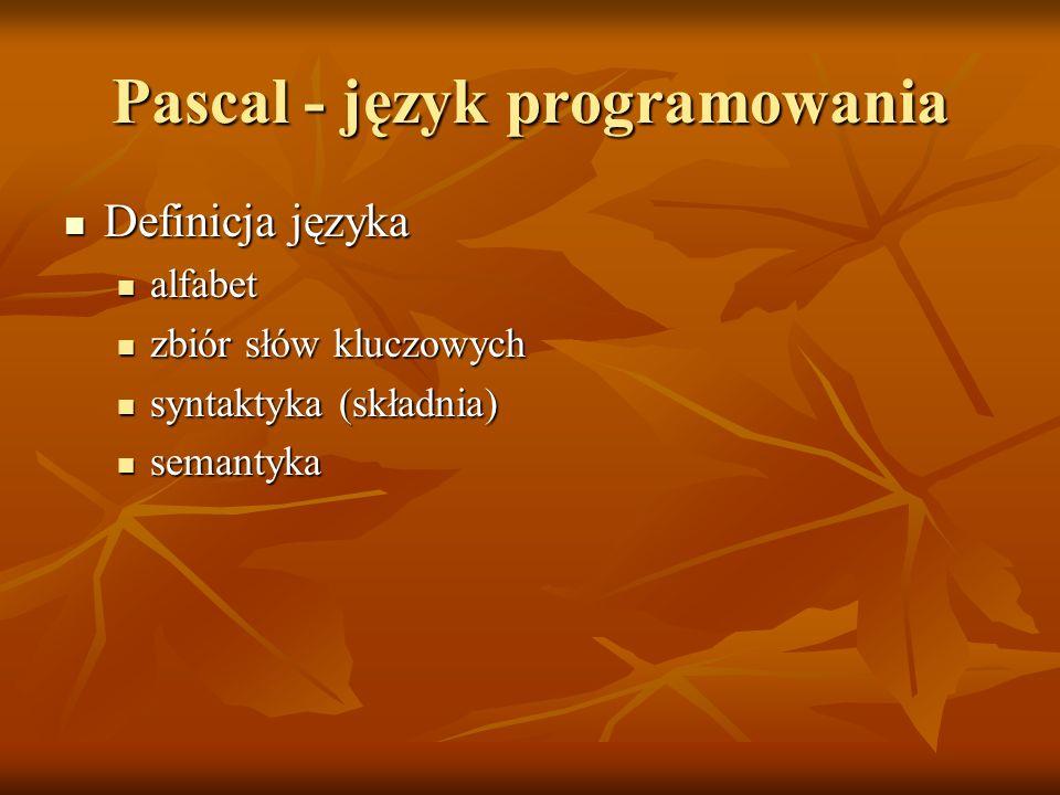 Pascal - język programowania