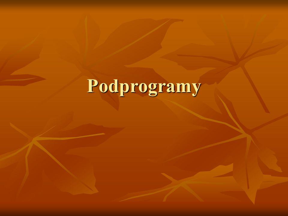 Podprogramy