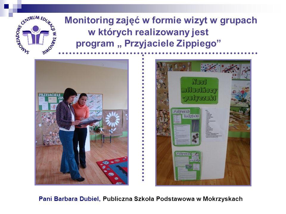 Pani Barbara Dubiel, Publiczna Szkoła Podstawowa w Mokrzyskach