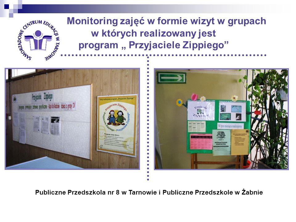 Publiczne Przedszkola nr 8 w Tarnowie i Publiczne Przedszkole w Żabnie
