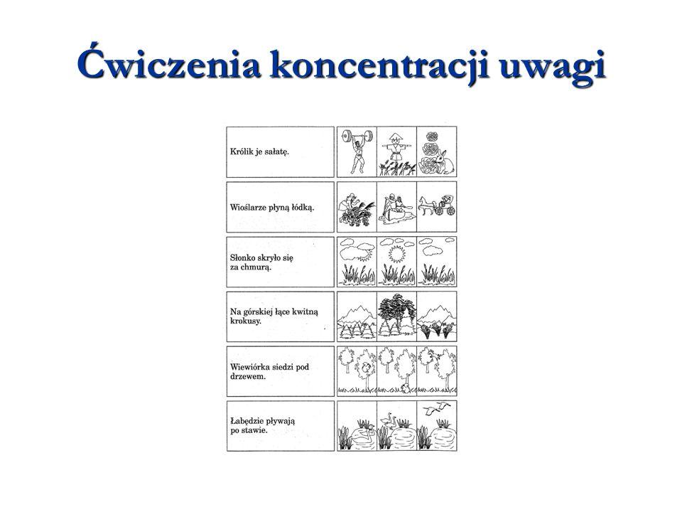 Ćwiczenia koncentracji uwagi
