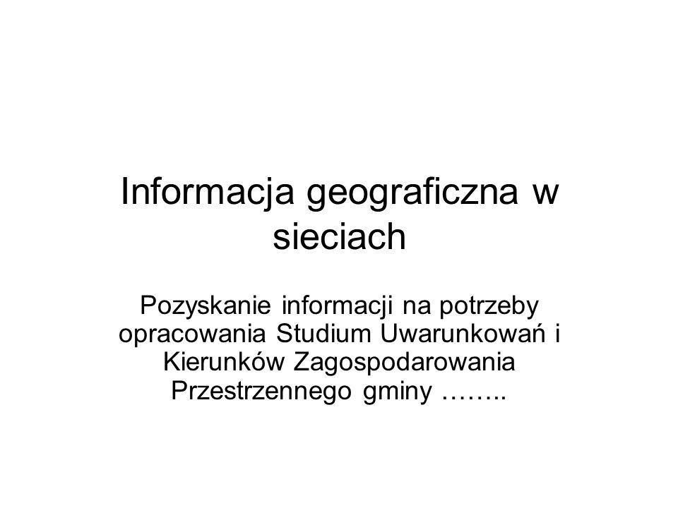 Informacja geograficzna w sieciach