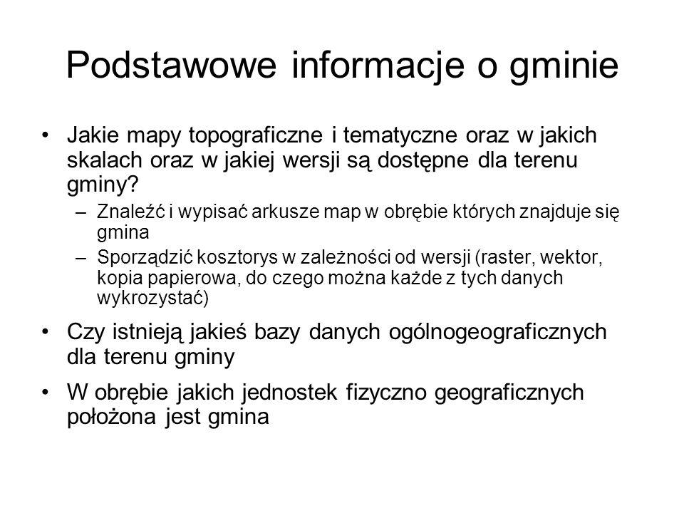 Podstawowe informacje o gminie