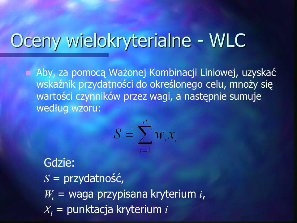 Oceny wielokryterialne - WLC