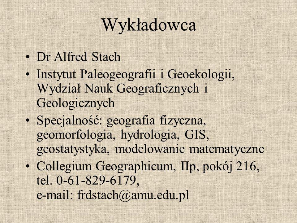 Wykładowca Dr Alfred Stach