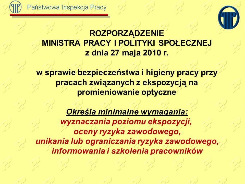 MINISTRA PRACY I POLITYKI SPOŁECZNEJ z dnia 27 maja 2010 r.