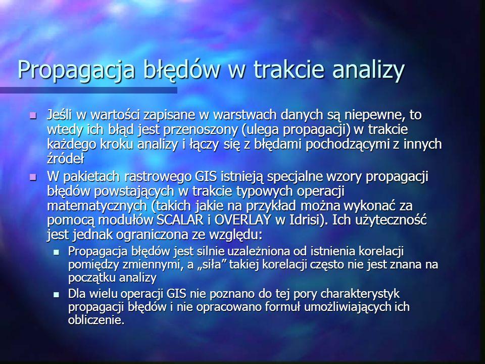 Propagacja błędów w trakcie analizy
