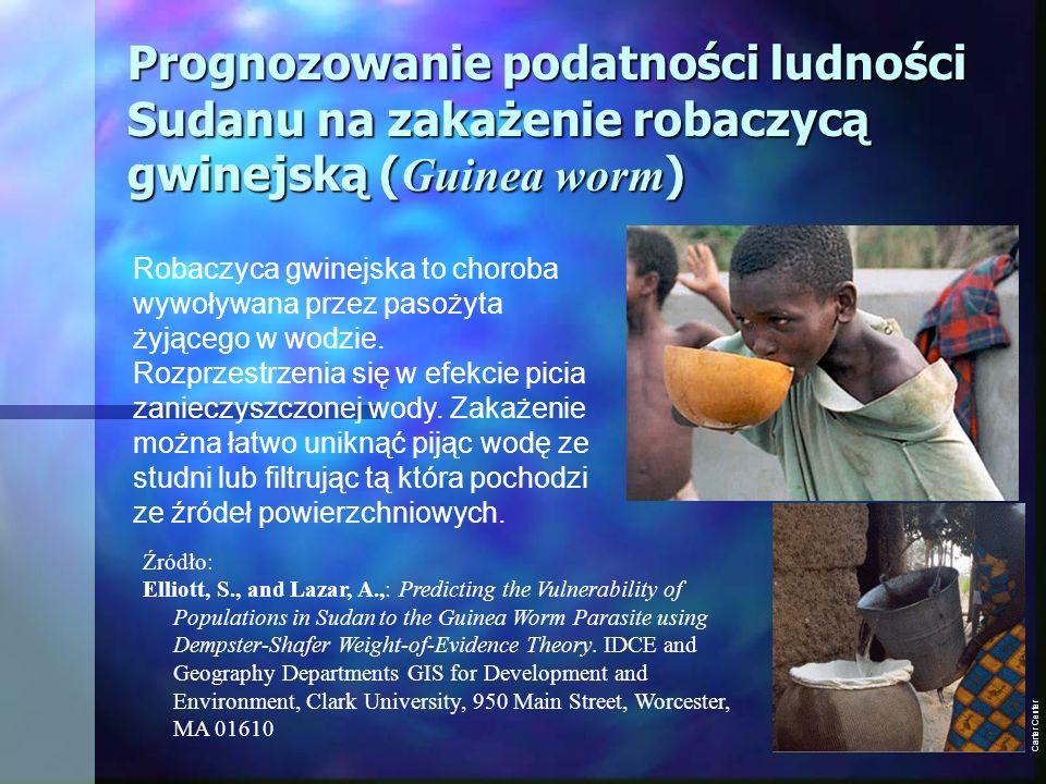 Prognozowanie podatności ludności Sudanu na zakażenie robaczycą gwinejską (Guinea worm)