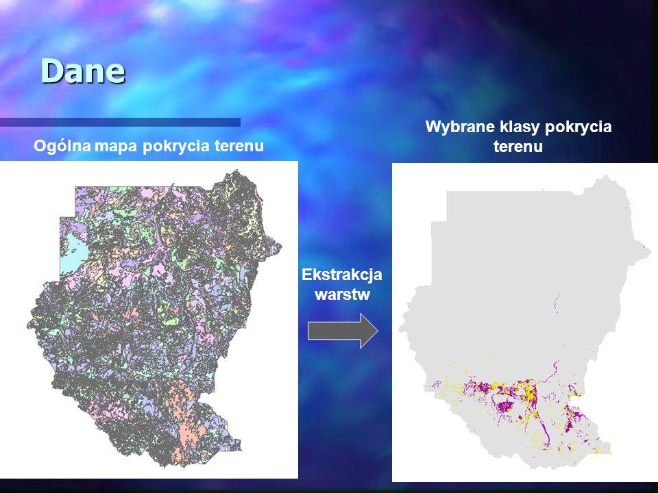 Wybrane klasy pokrycia terenu Ogólna mapa pokrycia terenu