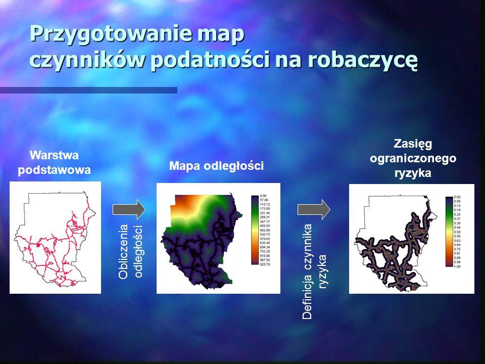 Przygotowanie map czynników podatności na robaczycę