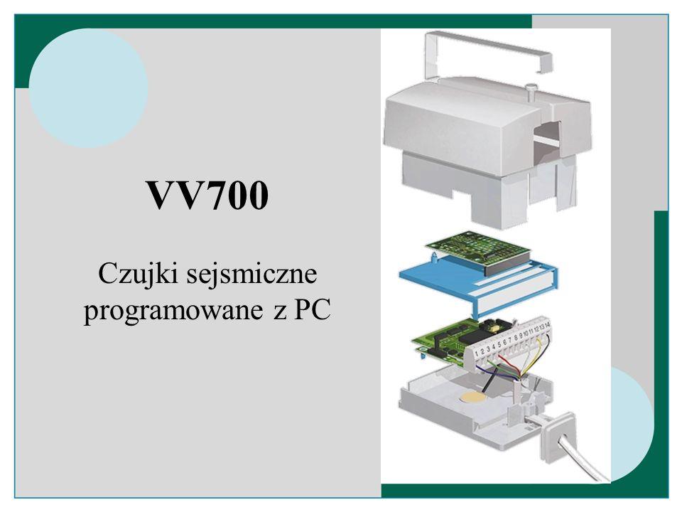 Czujki sejsmiczne programowane z PC