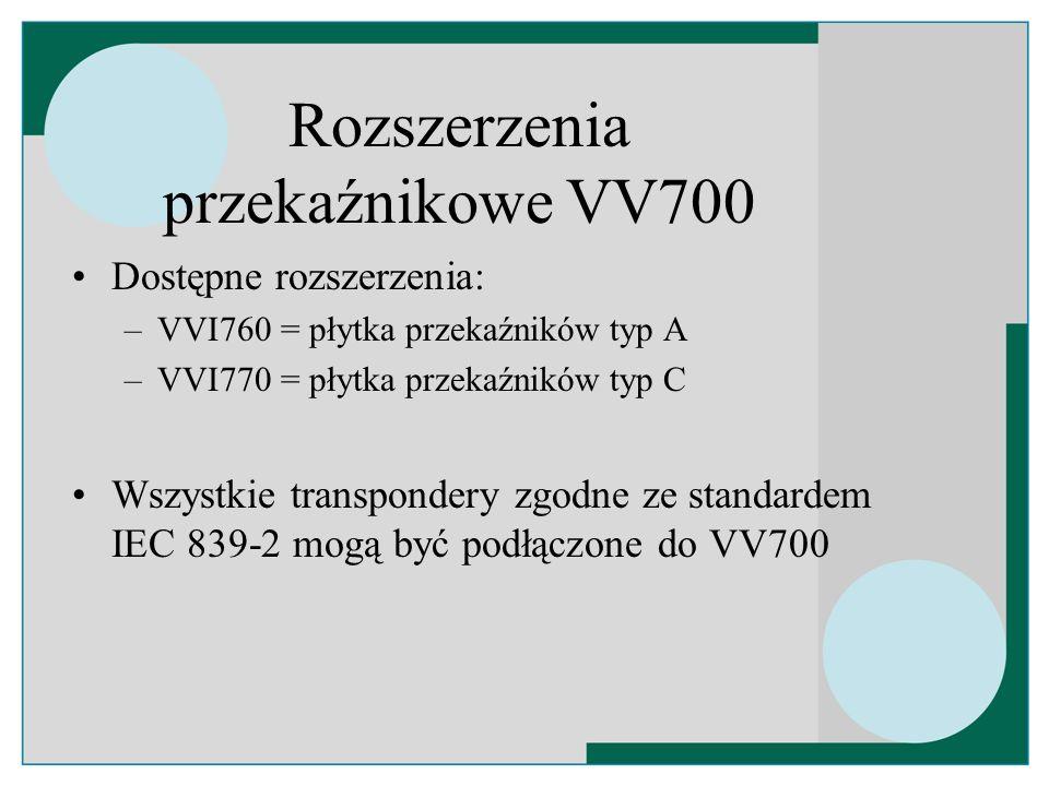 Rozszerzenia przekaźnikowe VV700