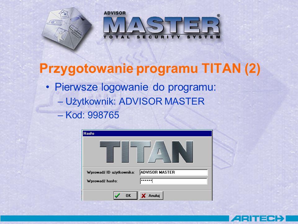 Przygotowanie programu TITAN (2)