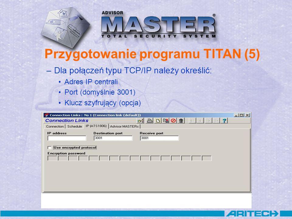 Przygotowanie programu TITAN (5)