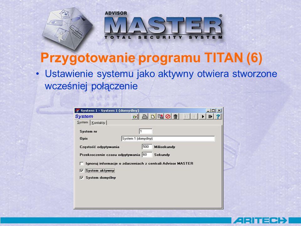 Przygotowanie programu TITAN (6)