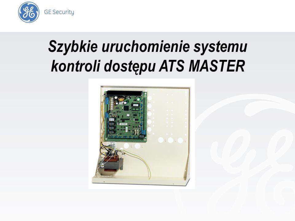 Szybkie uruchomienie systemu kontroli dostępu ATS MASTER