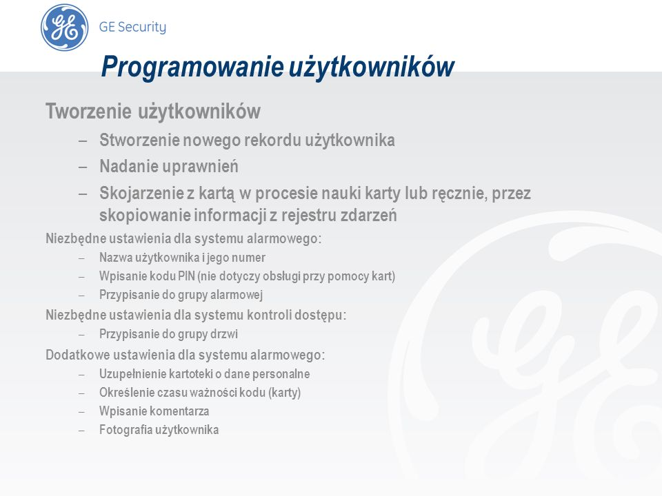 Programowanie użytkowników
