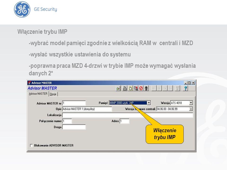 -wybrać model pamięci zgodnie z wielkością RAM w centrali i MZD