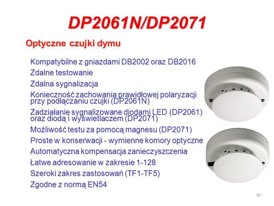 DP2061N/DP2071 Optyczne czujki dymu